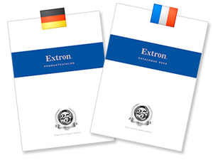 German and French Extron Product Catalog